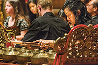 Gamelan ensemble performing