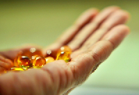 pills in an open hand