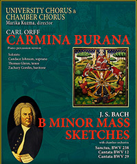 Event poster for Carmina Burana and Bach