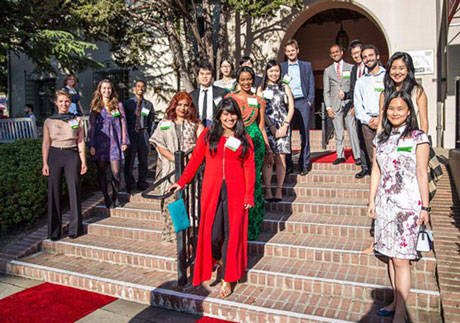 I-House Resident Hosts greet our Gala guests
