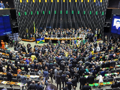 Brazil's Senate during the Rousseff impeachment vote, April 2016. (Photo by Douglas Gomes/Liderança do PRB na Câmara.)