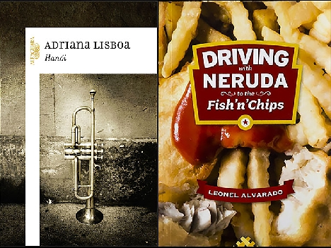 Covers of Adriana Lisboa and Leonel Alvarado's recent books. (Images courtesy of Ed. Alfaguara and Haunui Press.)