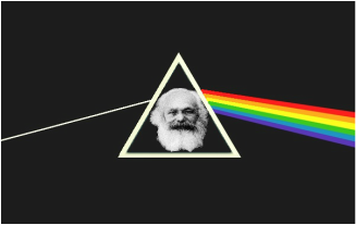 Image of Marx in a prism