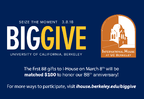 Big Give for I-House