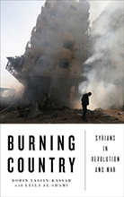 Book jacket for Burning Country