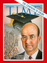 Cover of Time Magazine with Clark Kerr