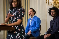 Lin-Manuel and Daveed at the White House