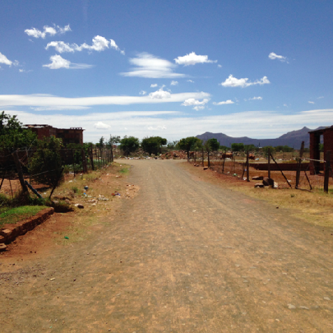 Road between Rural and Urban South Africa