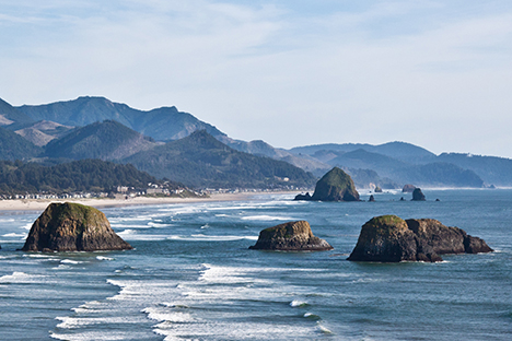 Oregon coastline near Cannon Beach-Abhinaba Basu