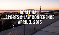 Sports and law conference graphic