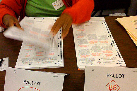 Image: Erik Hersman Ballots in Florida - US Election 2008