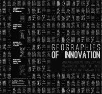 Graphic of the exhibit Geographies of Innovation