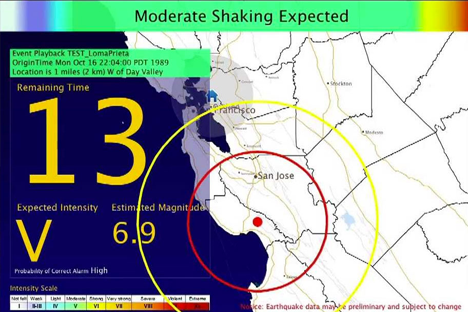 Shake Alert - Earthquake early warning system