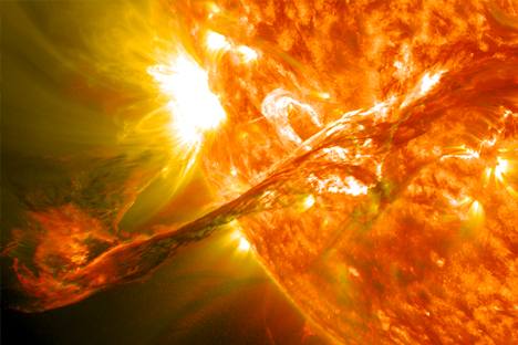 Coronal Mass Ejection (CME) image: NASA