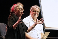 Matt Groening and Lynda Barry