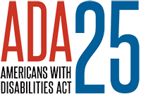 Graphic for the 25th anniversary of ADA