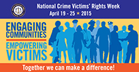 Graphic for National Crime Victims' rights week